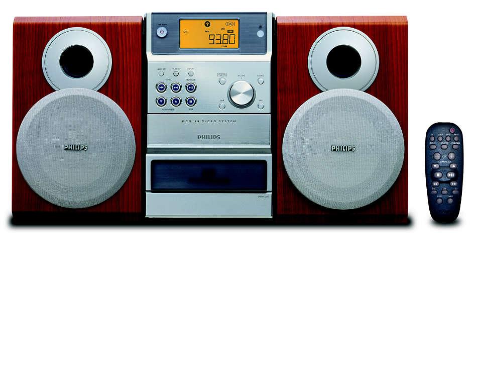 Vychutnejte si přehrávání hudby z MP3-CD tak, jak ji máte rádi.