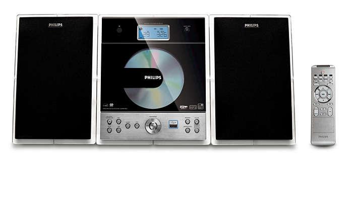 Fyldig lyd i kompakt design