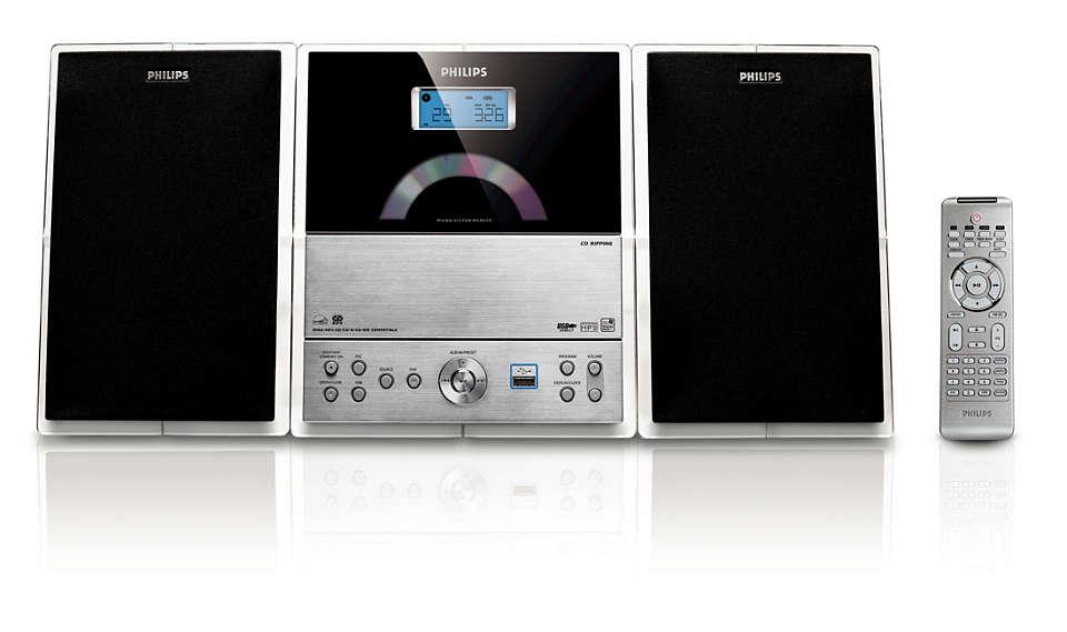 Rich sound in compact design