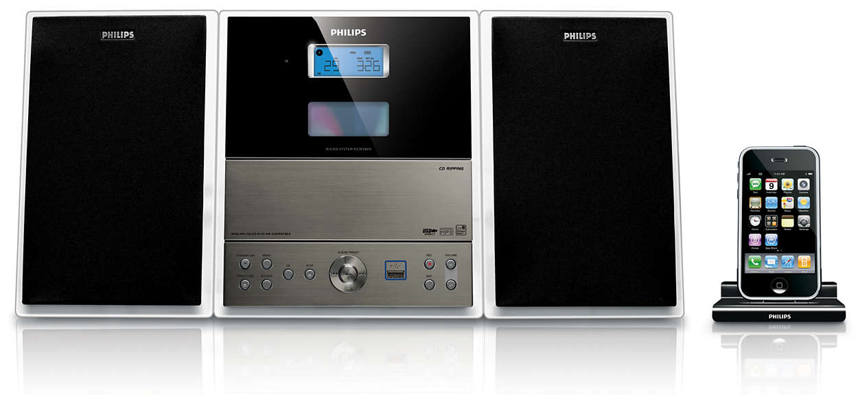 technische daten f r schlankes micro soundsystem mcm280d 12 philips. Black Bedroom Furniture Sets. Home Design Ideas