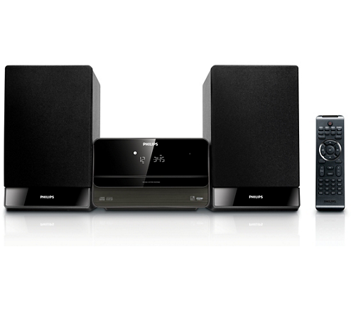 komponenten micro soundsystem mcm302 12 philips. Black Bedroom Furniture Sets. Home Design Ideas