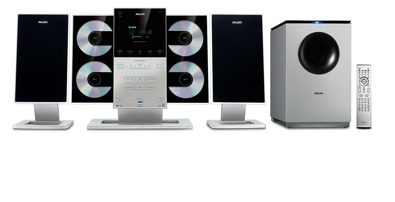 A 4-disc music system