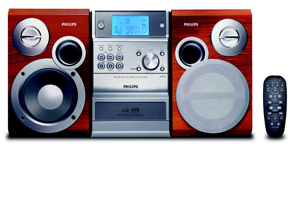 Enjoy MP3-CD music the way you like it