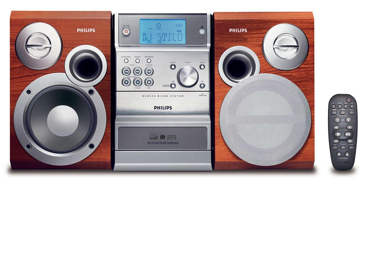 Lytt til MP3-CD-musikk på din måte