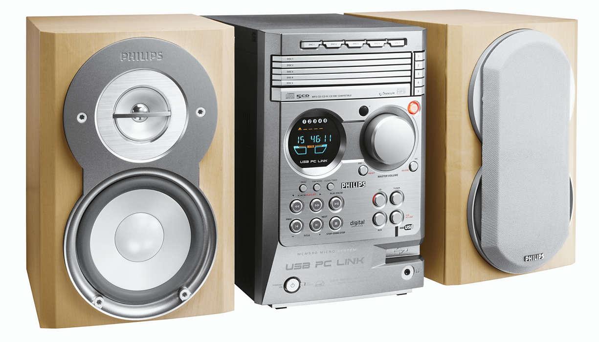 Fjernkontroller MP3-musikk fra PCen