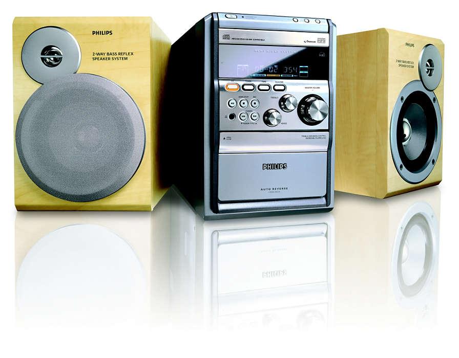 MP3-levyjen toisto.