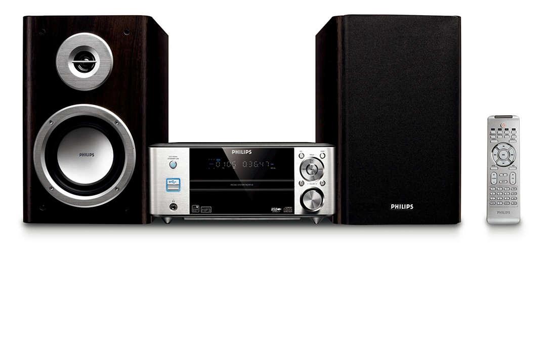 Bohatý zvuk a kompaktní provedení