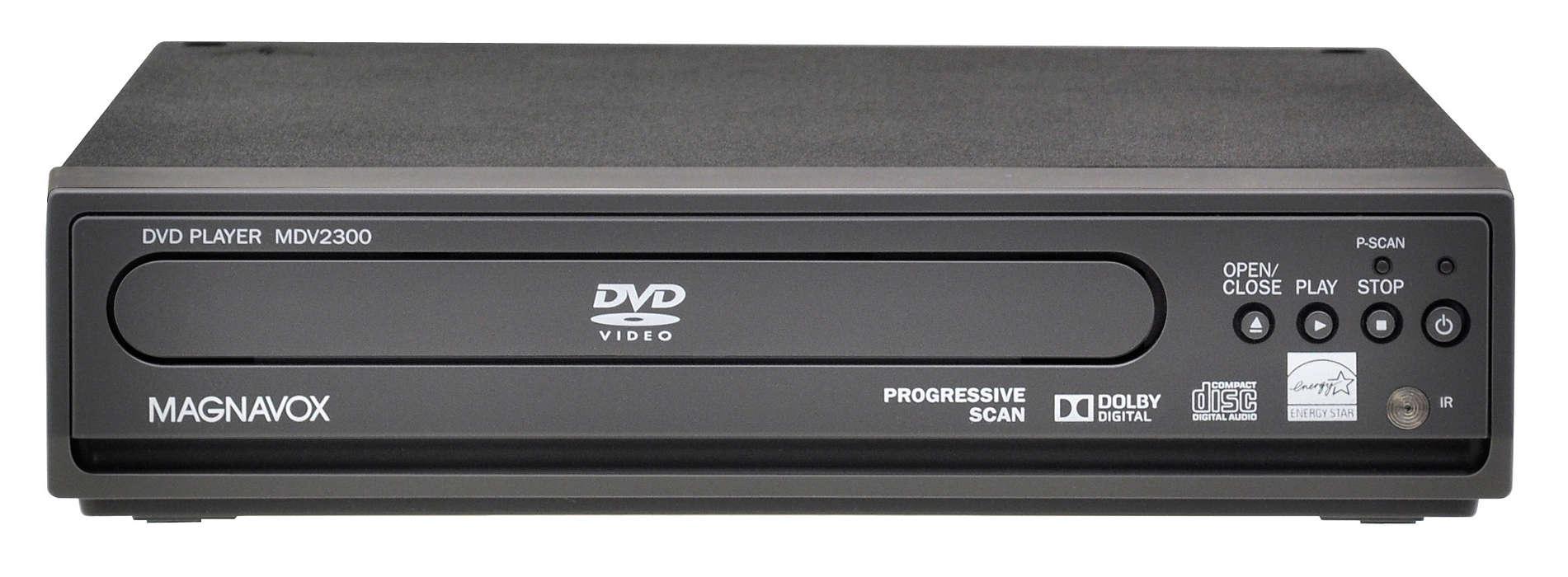 Lecteur de DVD avec balayage progressif