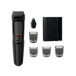 Multigroom series 3000 6-i-1, grooming kit för ansikte