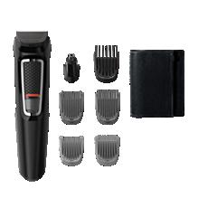MG3720/15 Multigroom series 3000 7-v-1, obrazne dlake in lasje