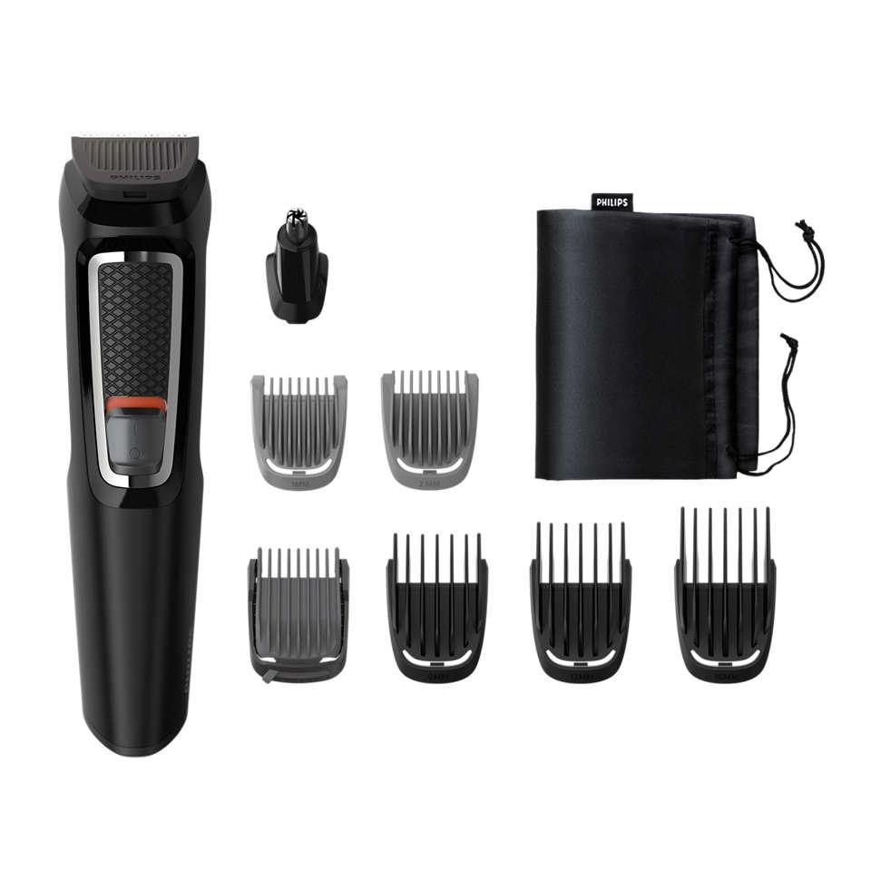 Multigroom series 3000 8-i-1, grooming kit för ansikte ochhår