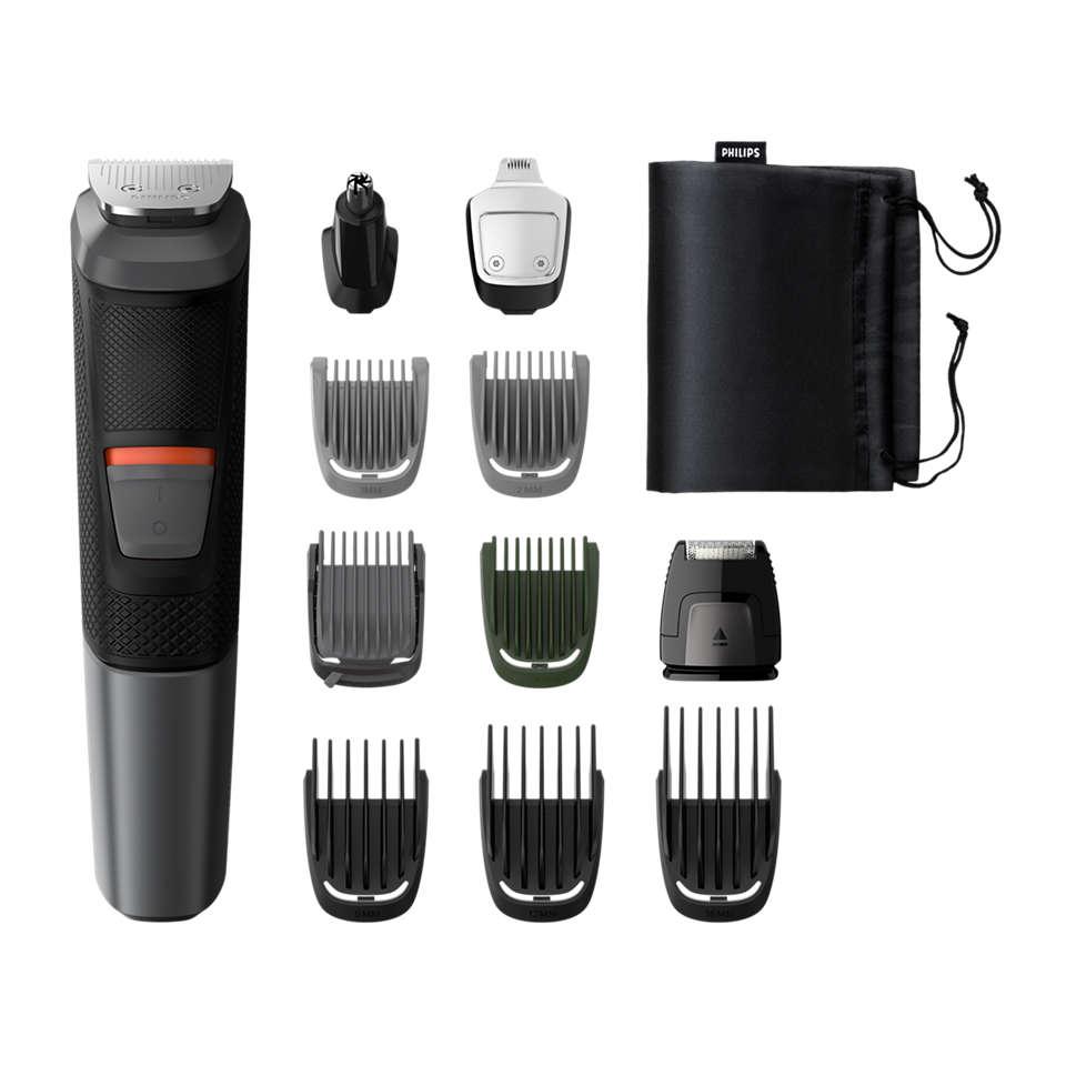 Multigroom series 5000 11-in-1-trimmeri kasvoille, hiuksille ja vartalolle