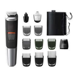Multigroom series 5000 12'si 1 arada, Yüz, Saç ve Vücut