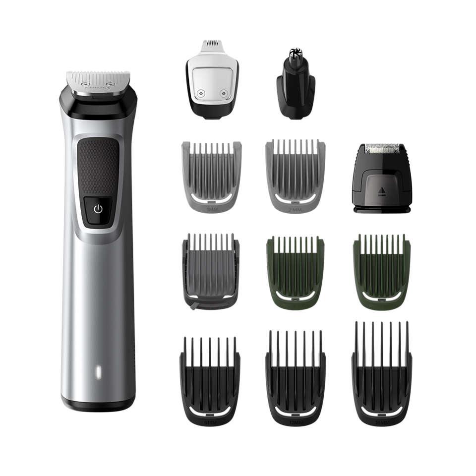 Multigroom series 7000 12-in-1-trimmeri kasvoille, hiuksille ja vartalolle