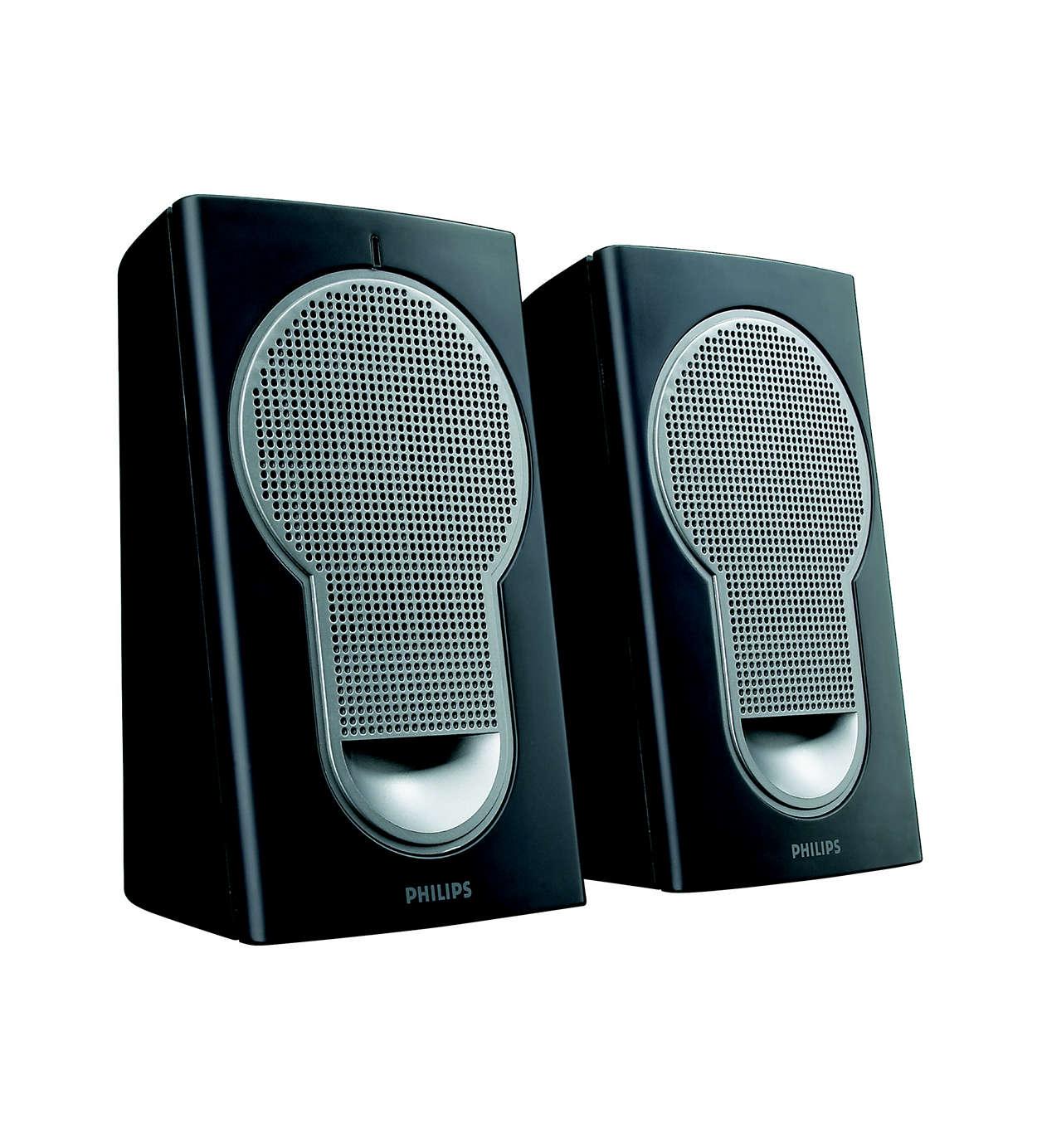 Stor lyd fra kompakte højttalere
