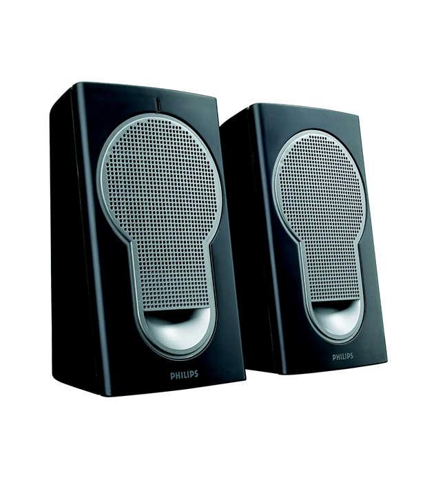Fantastisk lyd fra kompakte høyttalere