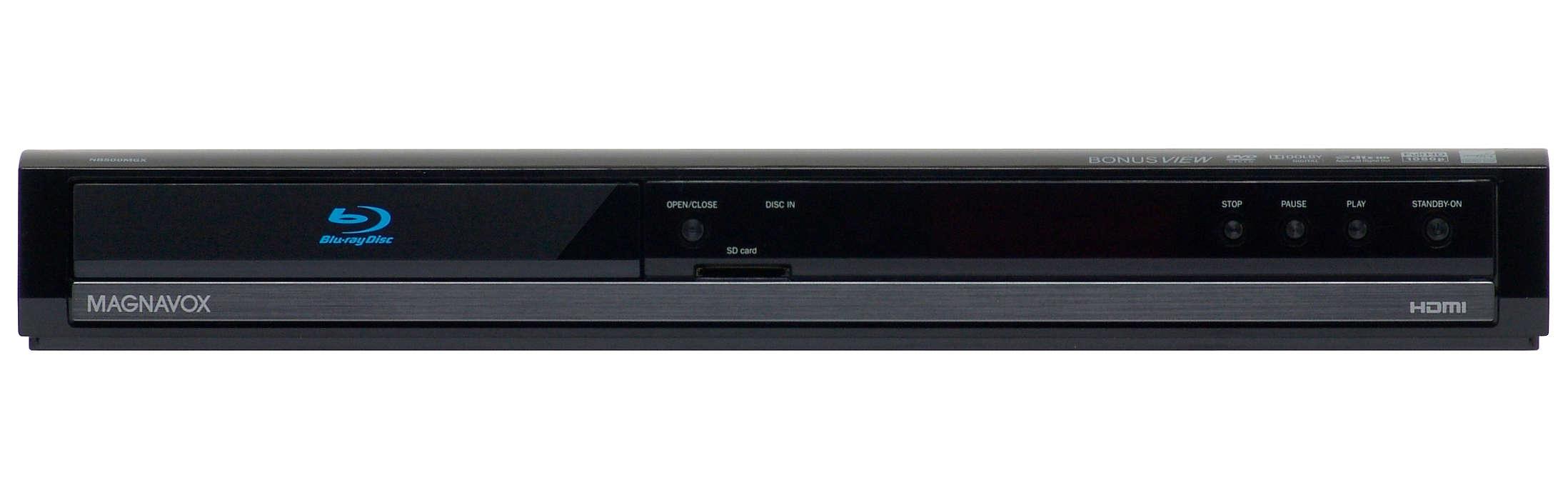 Lecture de disques Blu-ray pour le contenu vidéo haute définition