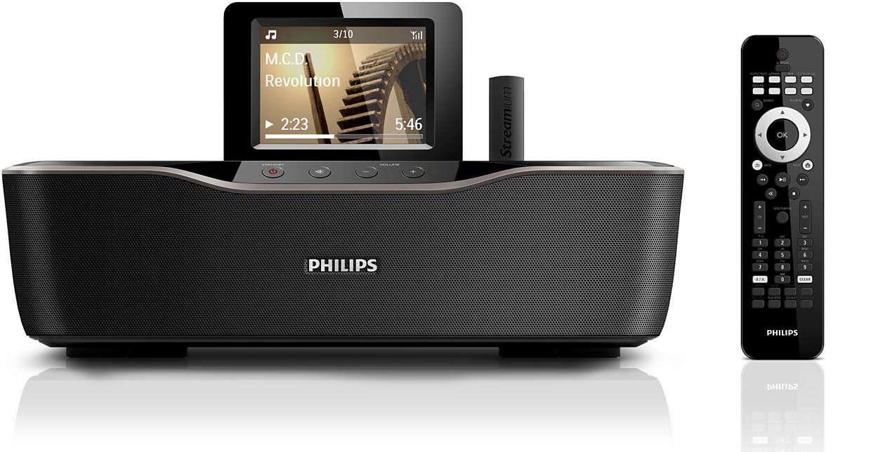 Слушайте музыку с ПК/MAC и из Интернета без проводов