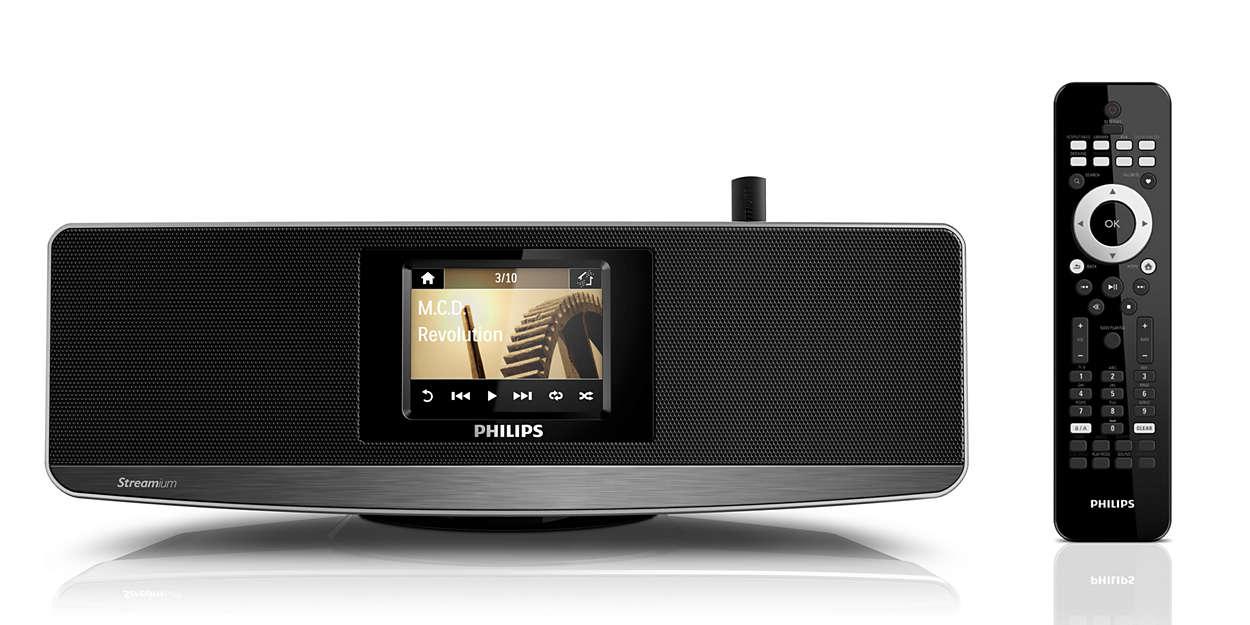Streamujte hudbu z PC/MAC a Internetu – bezdrôtovo