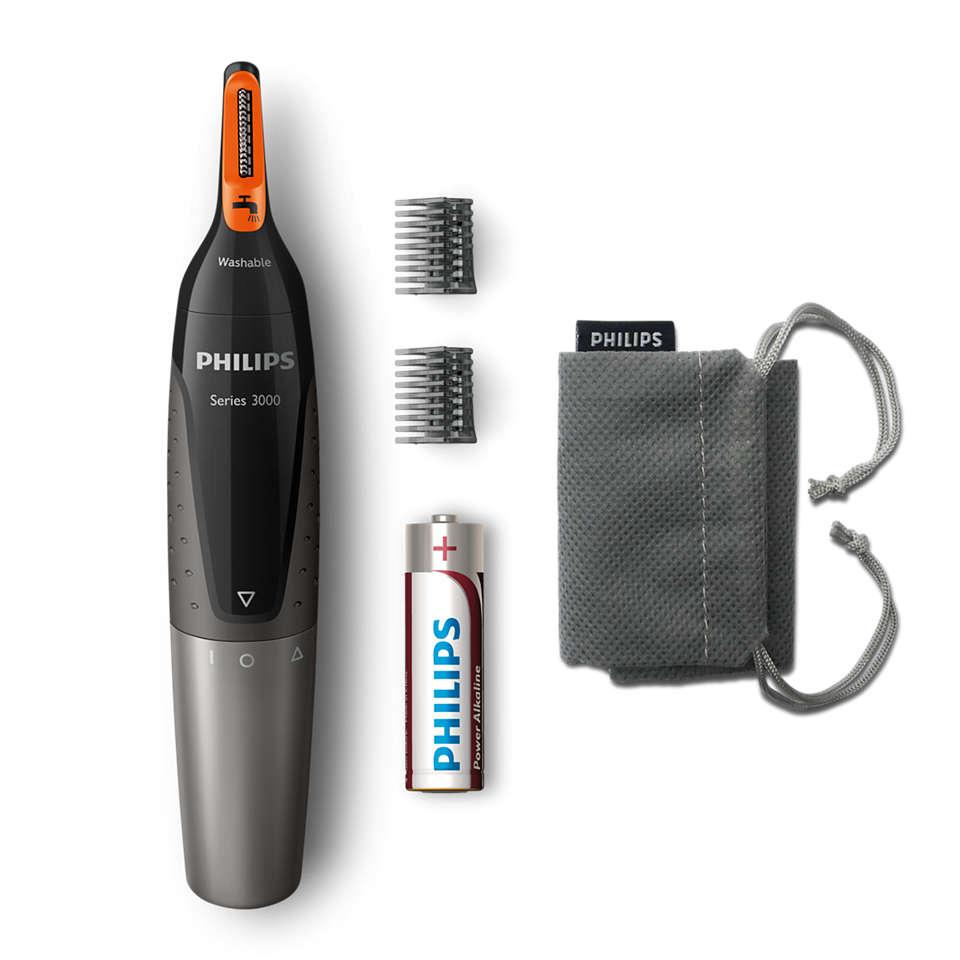 Nose trimmer series 3000 Wygodny trymer do brwi, nosa i uszu