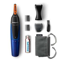 Nose trimmer series 5000 柔和舒適的鼻毛、頸毛及鬢角修剪器