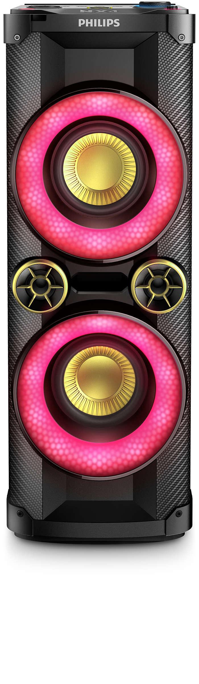Sound Tower alla massima potenza