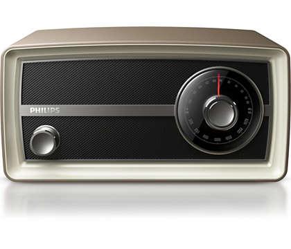 Donnez le La avec la radio Vintage Mini