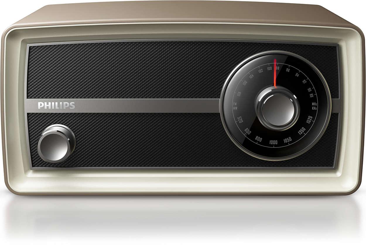 Стильное оригинальное мини-радио Philips