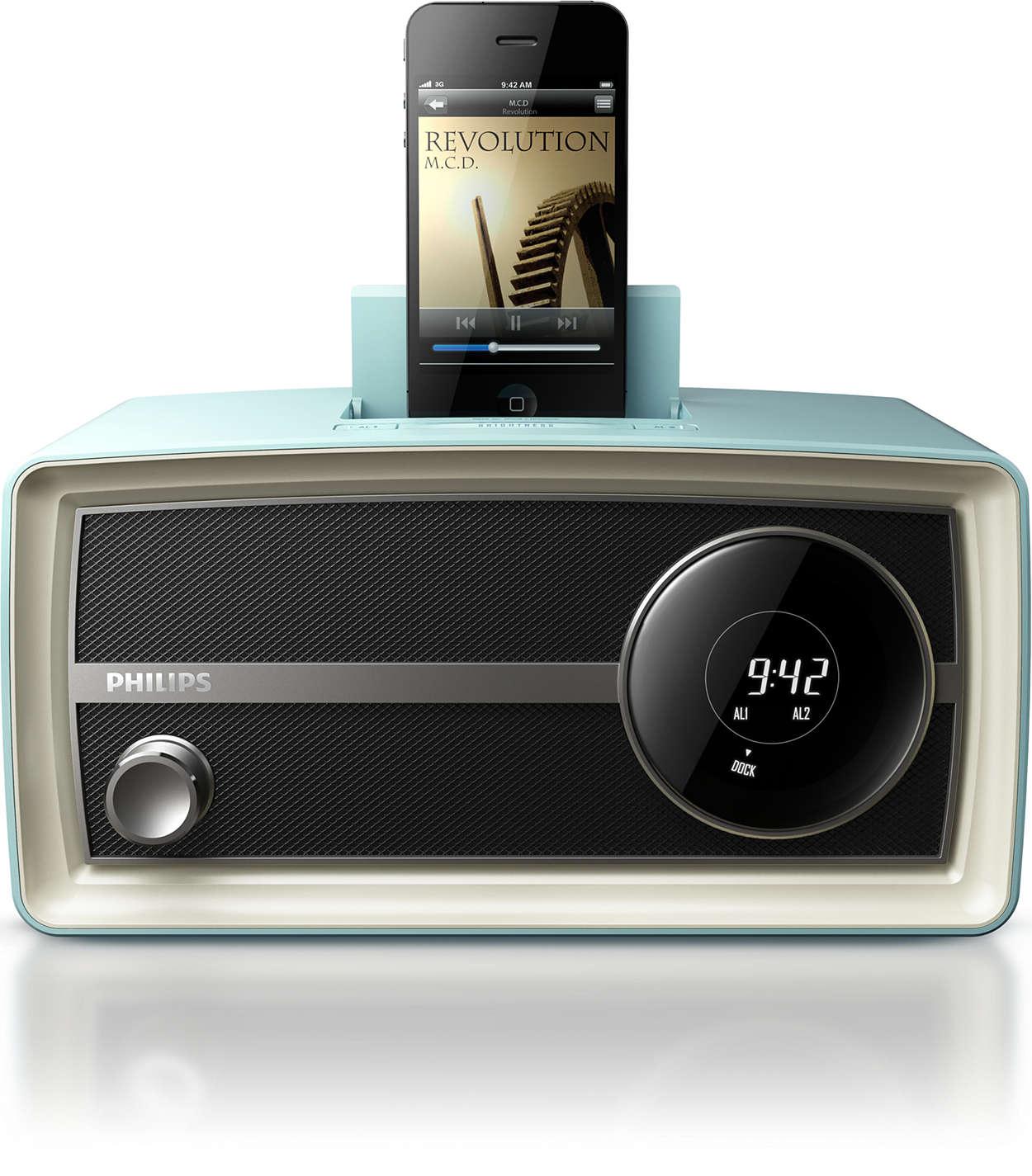 Marca tendencia con la mini radio Original de Philips
