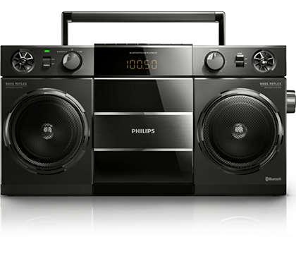 Música do seu smartphone via ligação sem fios