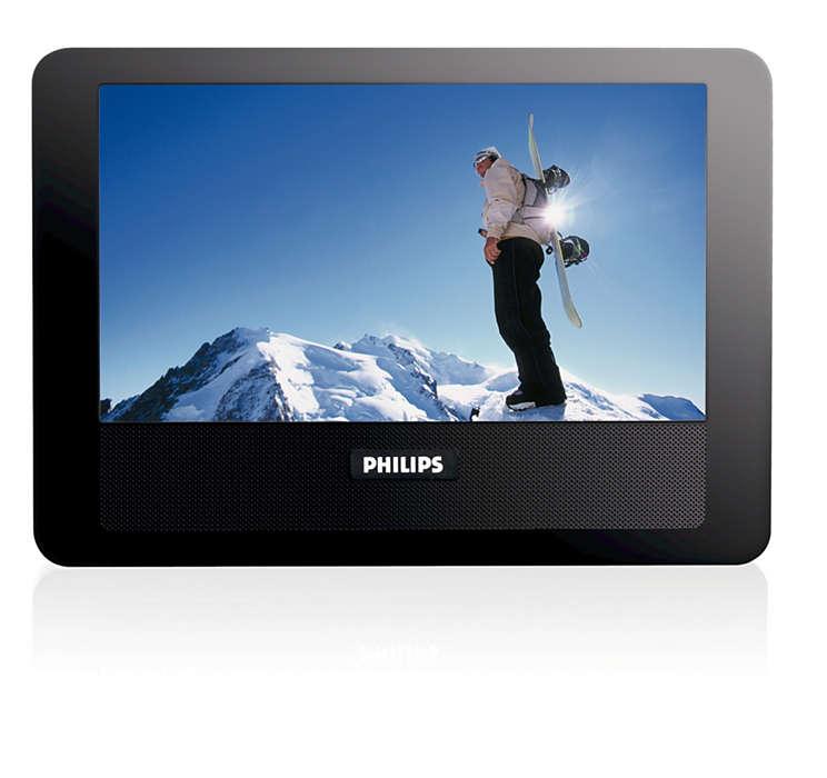 Ekstra skærm til brug i bilen