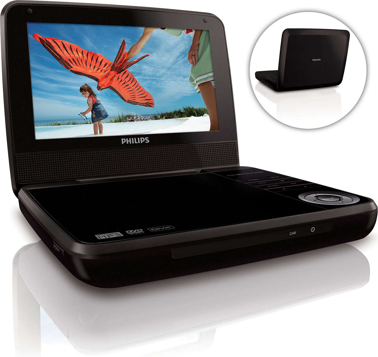 lecteur dvd portable pd7001b 12 philips. Black Bedroom Furniture Sets. Home Design Ideas