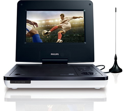 tragbarer dvd player pd7005 12 philips. Black Bedroom Furniture Sets. Home Design Ideas