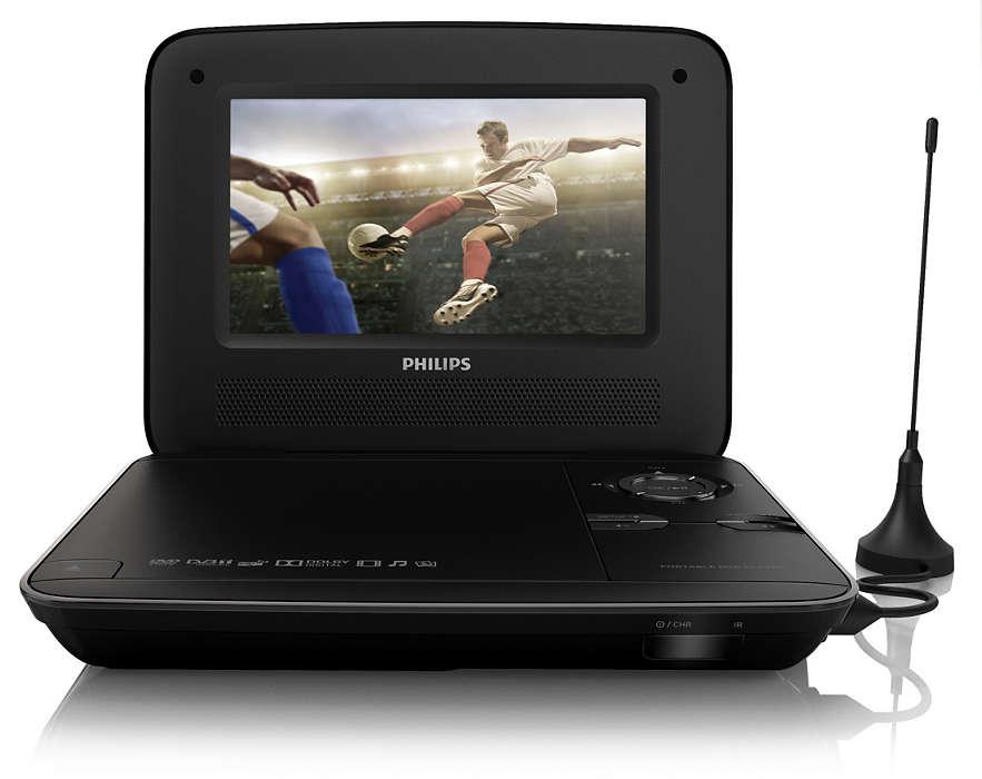 Гледайте любимите си HD ТВ програми* и DVD дискове, навсякъде