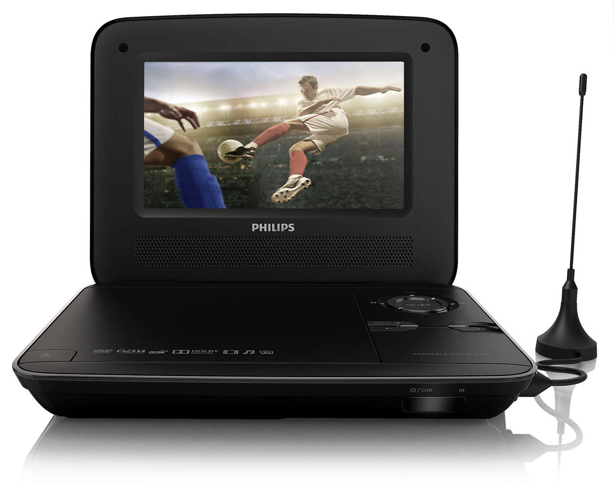 tragbarer dvd player pd7015 12 philips. Black Bedroom Furniture Sets. Home Design Ideas