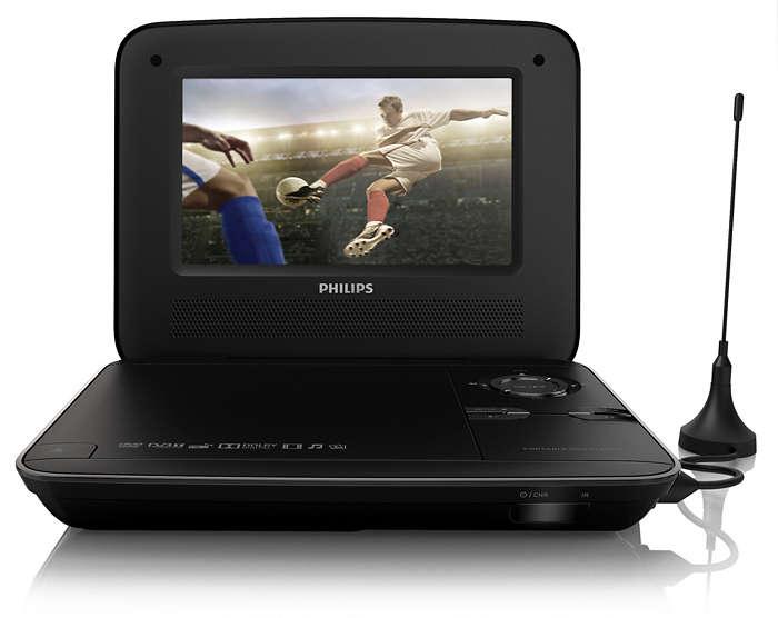 tragbarer dvd player pd7015 12 philips. Black Bedroom Furniture Sets. Home Design Ideas