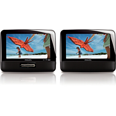 PD7022/05  Dual screen portable DVD player