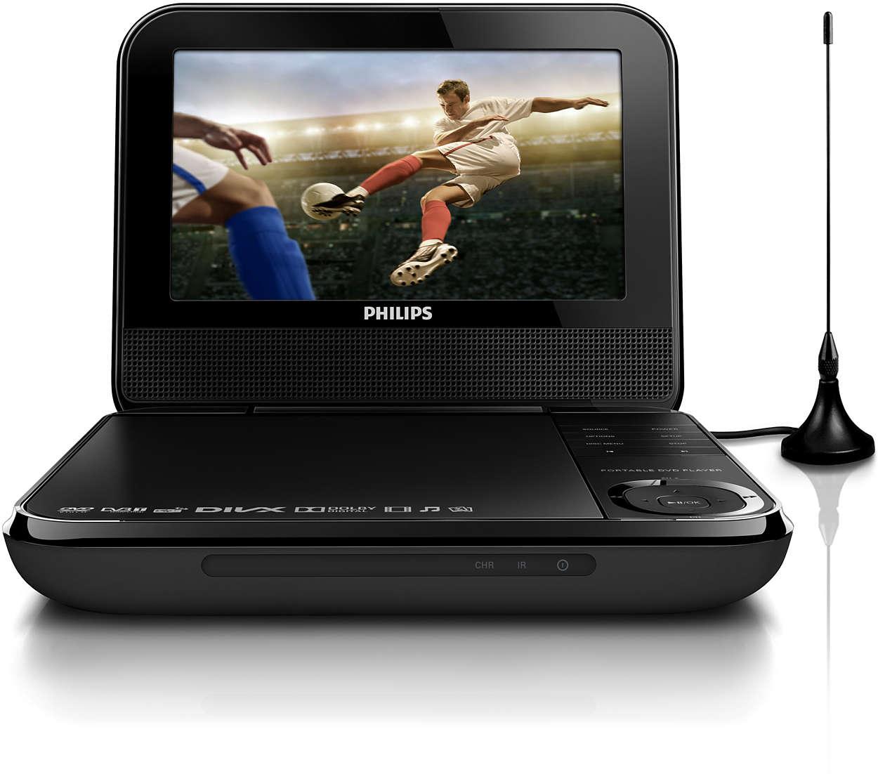 tragbarer dvd player pd7025 12 philips. Black Bedroom Furniture Sets. Home Design Ideas