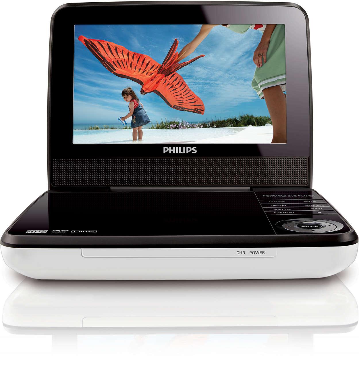 Portable Dvd Player Pd7030 98 Philips Kaset Rw