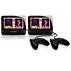 Bärbar DVD-spelare med dubbla skärmar