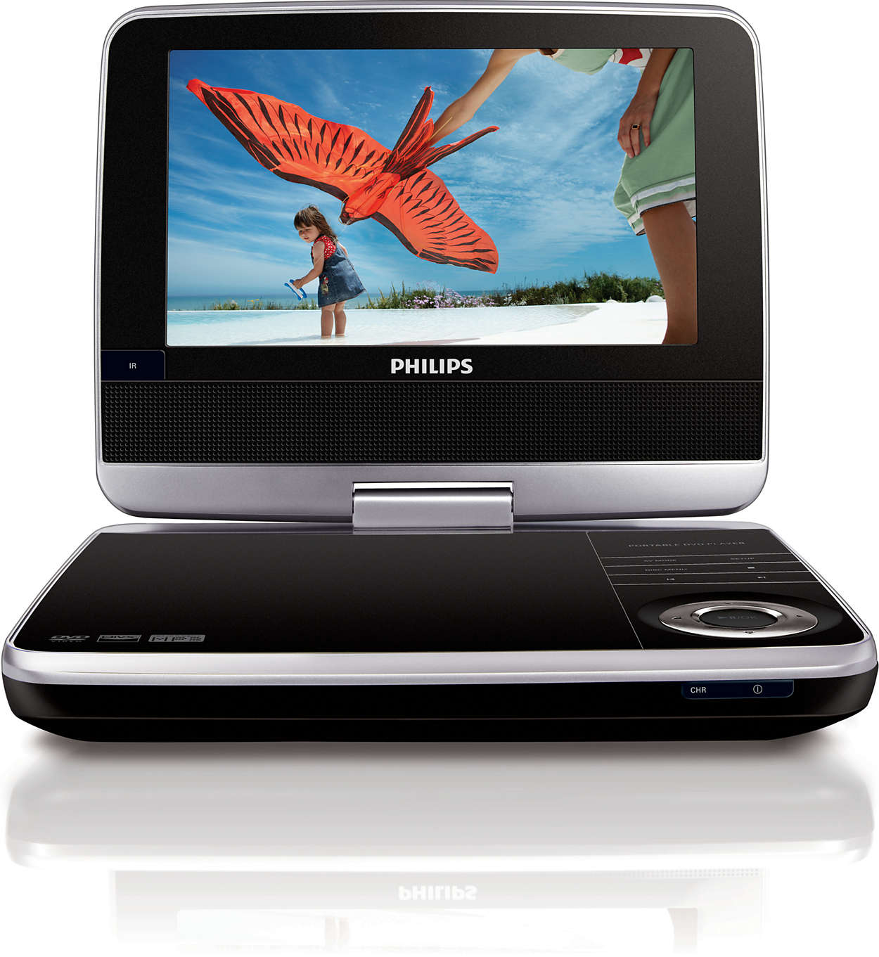 tragbarer dvd player pd7040 12 philips. Black Bedroom Furniture Sets. Home Design Ideas