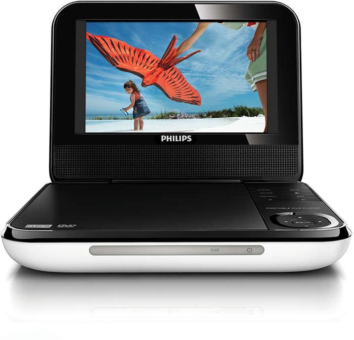 tragbarer dvd player pd709 12 philips. Black Bedroom Furniture Sets. Home Design Ideas