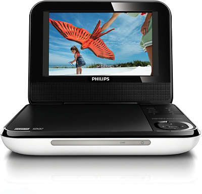 how to connect philips portable dvd player to tv