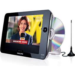 Téléviseur et lecteur de DVD portable