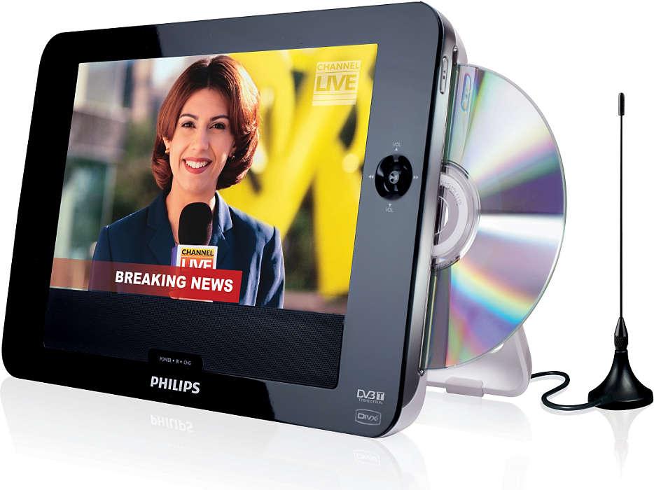 Unidade elegante com ranhura de DVD