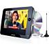 DVD portátil e televisor