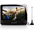 DVD portátil e televisor digital