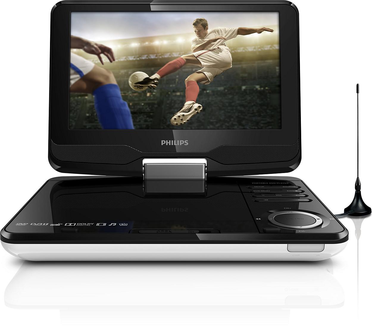 Tragbarer DVD-Player und Fernseher PD9015/12 | Philips