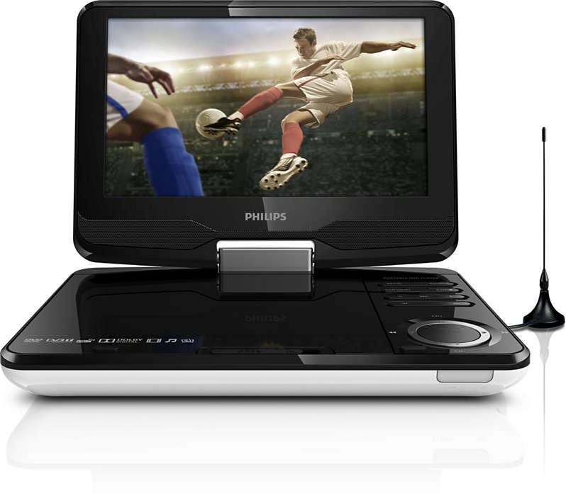 Ulubione programy telewizji HD* i filmy DVD w dowolnym miejscu