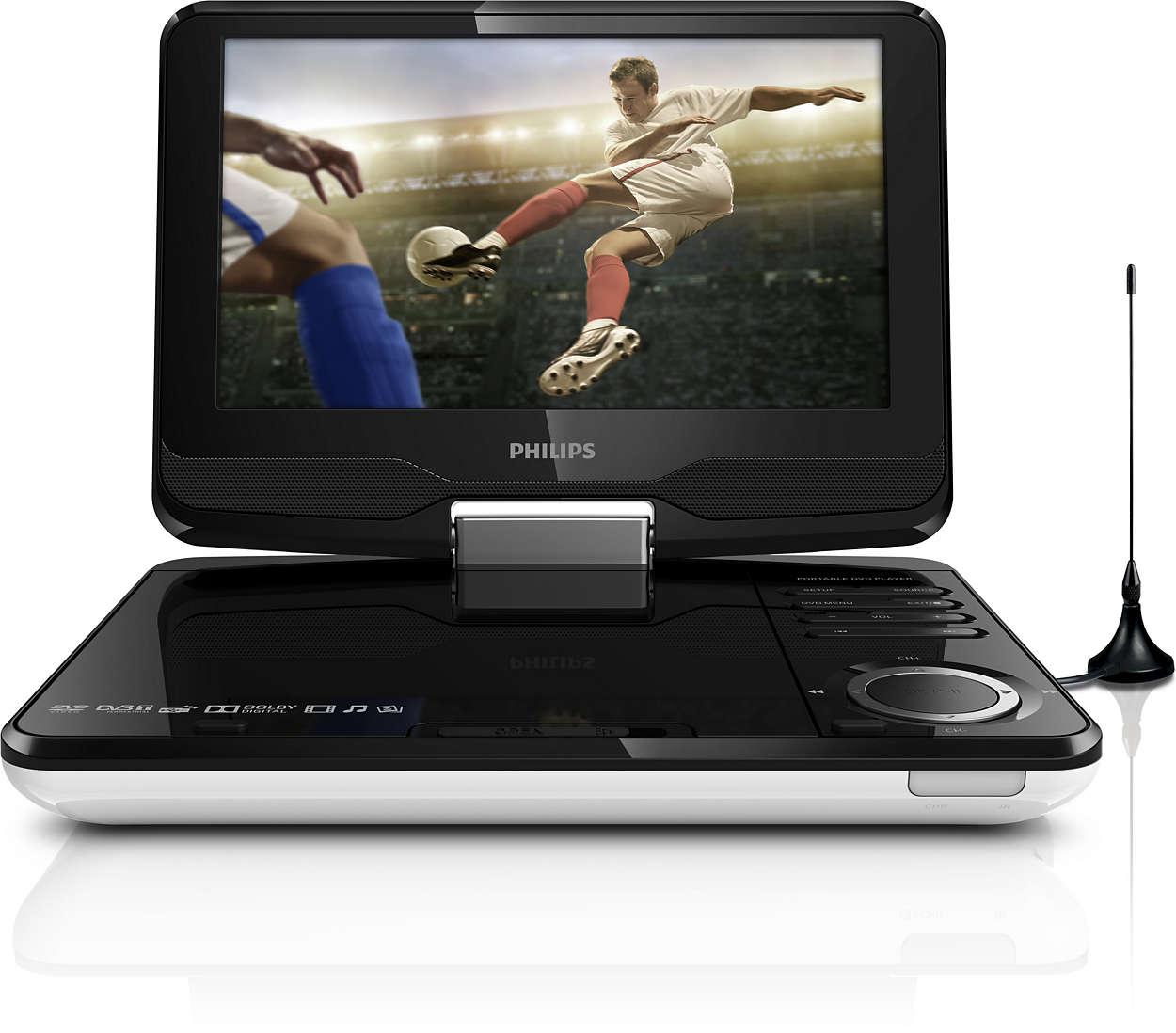 Titta på dina favoritprogram* och DVD-filmer i HD var som helst